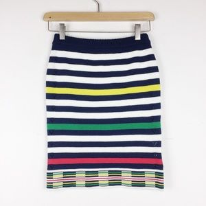 Opening Ceremony striped cotton mini pencil skirt